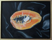 Halbe Portion (Papaya), 2009, 30x40cm, Öl/Lw.