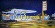 Blaue Nacht, 2017, 30x60 cm, Öl/Leinwand