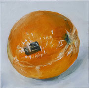 2017 Orange, 20x20 cm, Öl auf Leinwand