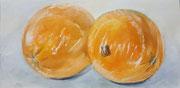 2017 Orangen, 20 x 40 cm, Öl auf Holz