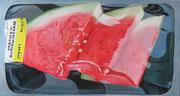 Scheibenfrucht, 2008, 185x100cm, Öl/Lw.
