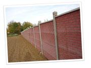 """clôture 4 plaques """"briques"""""""
