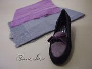 小物でもボールドカラーが続々登場。shoes¥37,800、 lacestall¥¥57,750/イタリア