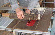 みかんの木の幹の輪切りの製材