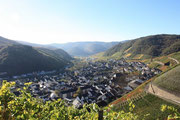 Der wunderschöne Blick auf Dernau,das Tal der Roten Traube !Beste Spätburgunder, Blanc de Noir, Top Weine auf kleinstem Raum!