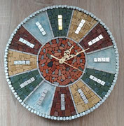 "Cristiano Ambrosini, ""Once upon a time"" vintage wall clock, modern mosaic (2019); diameter cm. 30"