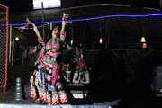traditional dance performances and music with Tablas, Harmonium and singing at Chantra bar