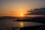 Den Abend mit einem Sonnenuntergang begrüßen