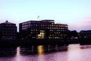 Die Weser zum Abend