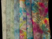delightful hand dyed wool done in a spot dye
