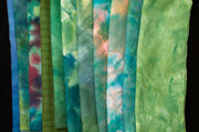 fabulous hand dyed wool in green, so soft to touch