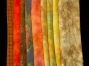 gorgeous  hand-dyed wool in yellows and pinks, you just want to touch them