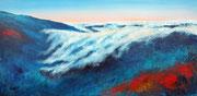 über den Wolken, Acryl 50x100 cm