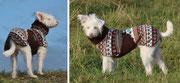 Wundeschöne Hundedame Pipa - Hundemantel Doppelfleece mit Brustlatz