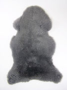 Peau de mouton teintée teintée grise