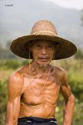 Proud farmer, China