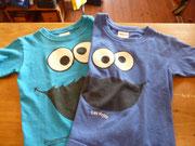 クッキーモンスターTシャツ 左:100cmくらい thanks sold  右:110cmくらい thanks sold  各¥1300