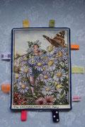Label of knuffeldoekjes; Flowerfairies. De achterkant is van cremekleurige badstof. Artikelcode LKN044. Prijs 9,50 exclusief verzendkosten.