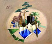 Oase, 100 x 120 cm, Acryl