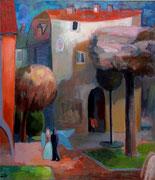 Stadt der Engel, 80 x 70 cm, Öl auf Leinwand