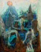 Atlantis, 120 x 95 cm, Acryl auf Leinwand