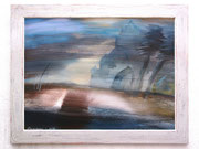 Fata Morgana, 75 x 100 cm, Acryl auf Karton, Unikatrahmen