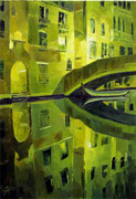 Nacht in Venedig, 100 x 70 cm, Öl auf Leinwand