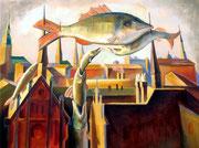 Emigration, 60 x 80 cm, Acryl auf Leinwand