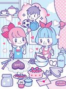 池田書店「女の子のキラキラまちがいさがし」イラスト