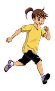 汐文社「めざせ!ナンバー1 もっと速く走れる!」挿絵