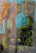 Ohne Titel, Ölpastell auf Papier, 35x45cm