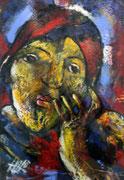 Gesicht, Acryl auf Papier, 35x45cm