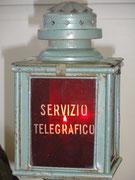 Lanterna del servizio militare telegrafico.