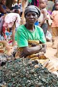 Ventre de malachite sur le marché