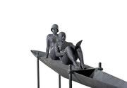 A. CAÑERO. Navegando juntos XX. 2010. Ed. 6. Bronze. 125 x 360 x 50 cm.