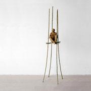 A. CAÑERO. Refugio III. 2004. Ed. 6. Bronze. 217 x 64 x 46 cm.