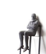 A. CAÑERO. Reflexiones. 2013. Ed. 6. Bronze. 168 x 26 x 38 cm.