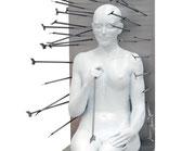 A. CAÑERO.  Mujer con flechas. 2006. Ed. 6. Bronze. 164 x 70 x 30 cm.