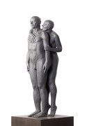 A. CAÑERO. Persuasión II. 2002. Ed. 6. Bronze. 170 x 35 x 35 cm.