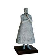A. CAÑERO. Reflexiones sobre los cuerpos celestes I-I. 2003. Ed. 6. Bronze. 205 x 89 x 89 cm.