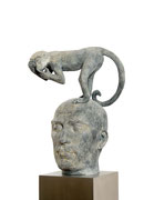 A. CAÑERO. Tan lejos tan cerca II. 2005. Ed. 6. Bronze. 162 x 41 x 32 cm.