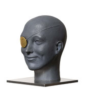 A. CAÑERO. Golden eye. 2010. Ed. 25. Bronze. 23 x 16,5 x 18,5 cm.