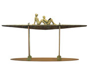 A. CAÑERO. Navegando juntos XI. 2009. Ed. 6. Bronze. 118 x 224 x 30 cm.