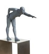 A. CAÑERO. Jugadora de billar. 2010. Ed. 6. Bronze. 165 x 71 x 33 cm.