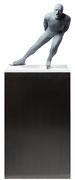 A. CAÑERO. Patinador II. 2013. Ed. 6. Bronze. 159 x 62 x 39 cm.