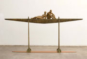 A. CAÑERO. Navegando juntos X. 2007. Ed. 6. Bronze. 118 x 224 x 30 cm.