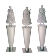 A. CAÑERO. Reflexiones sobre los cuerpos celestes I, II, III. 1998. Ed. 6. Bronze. 158 x 33 x 33 cm. c/u