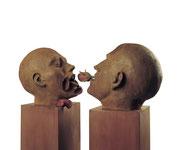 A. CAÑERO. Beso II. 2000. Ed. 6. Bronze. 145 x 60 x 20 cm.