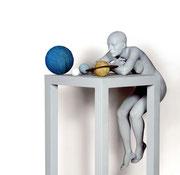 A. CAÑERO. Reflexiones sobre los cuerpos celestes IV. 2003. Ed. 6. Bronze. 164 x 47 x 72 cm.