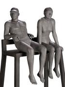 A. CAÑERO. Socorristas de Biarritz XI. 2016. Ed. 6. Bronze. 216 x 96 x 60 cm.